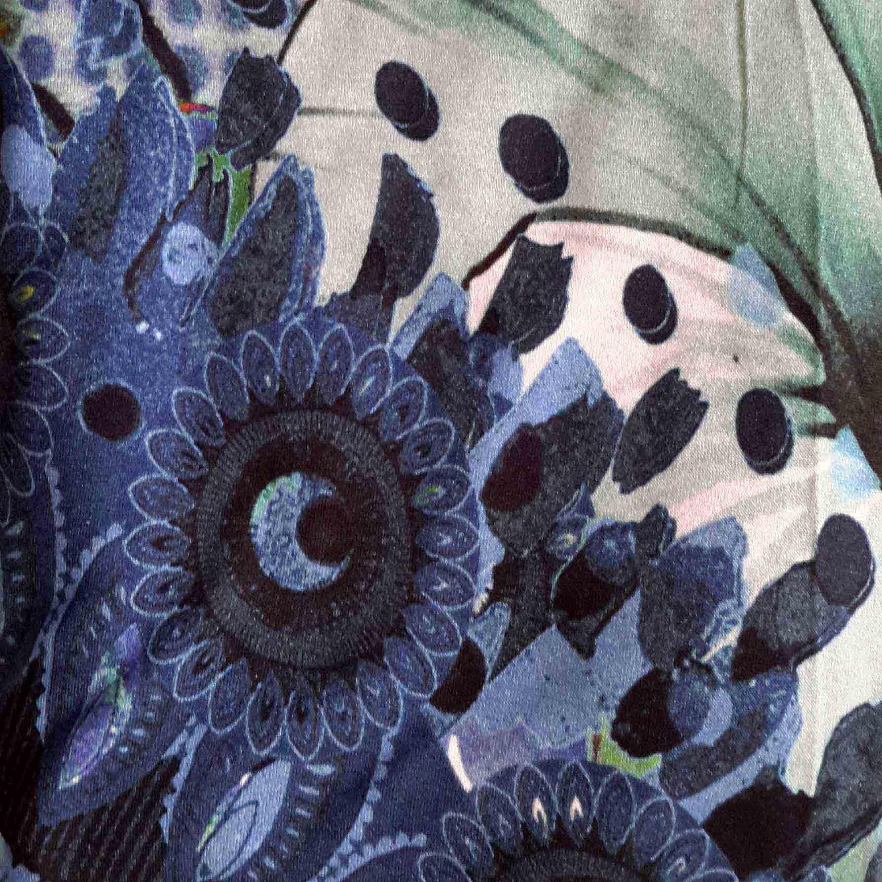 Azul Marino+estampado azul